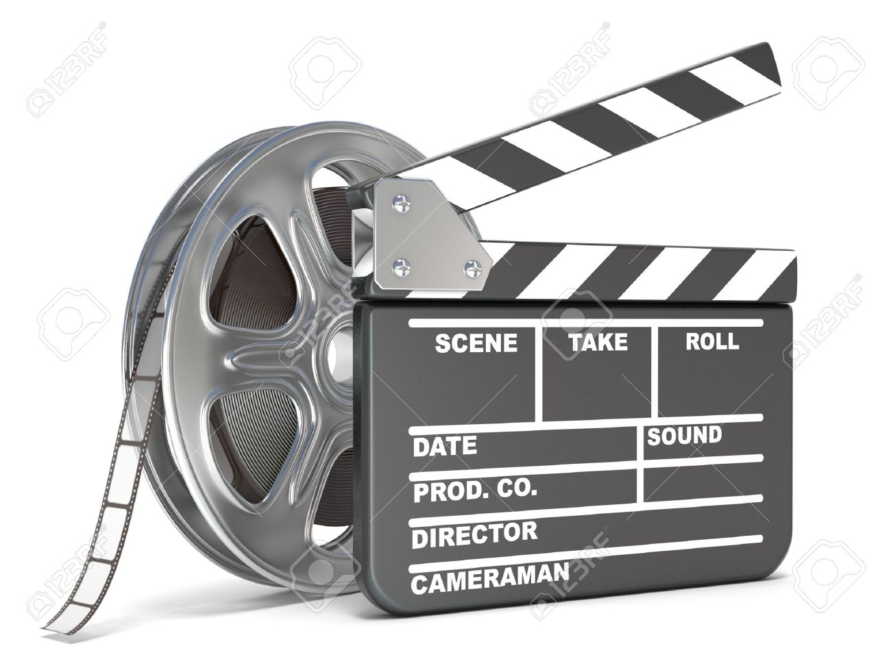 Clap Stock Photos Royalty Free Images Lighting Products Metal Related Searchesclapper Switch Light Film Reel And Movie Clapper Board Video Icon 3d Render Illustration Isolated On White