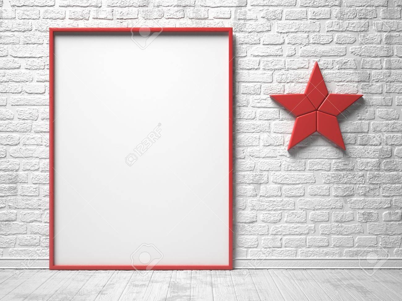 Maqueta Marco De Lona De Color Rojo, Rojo Decoración Estrella Y ...