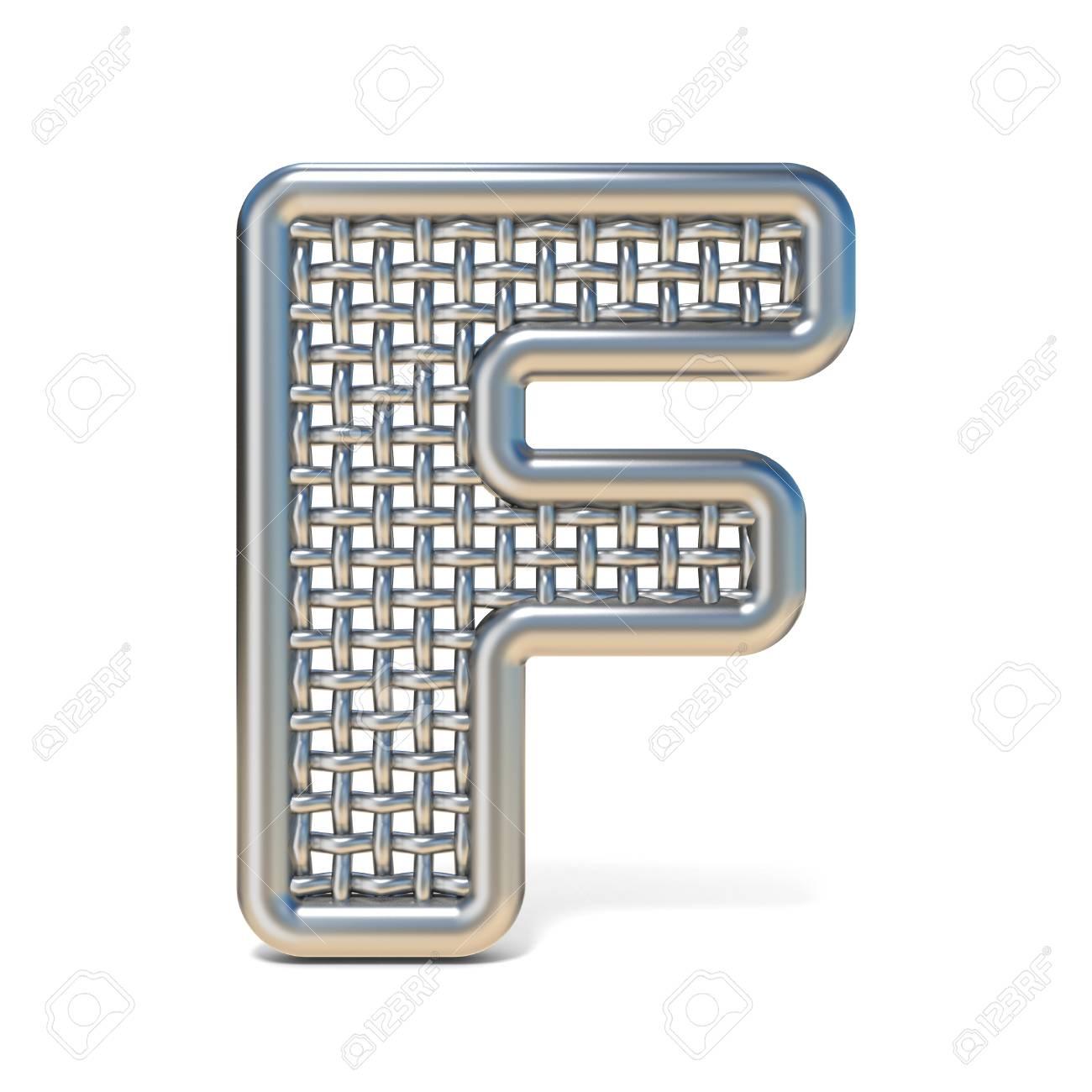 Wire Mesh Letter F Center Index 29 Audio Circuit Diagram Seekiccom Outlined Metal Font 3d Render Illustration Rh 123rf Com Fine Basket