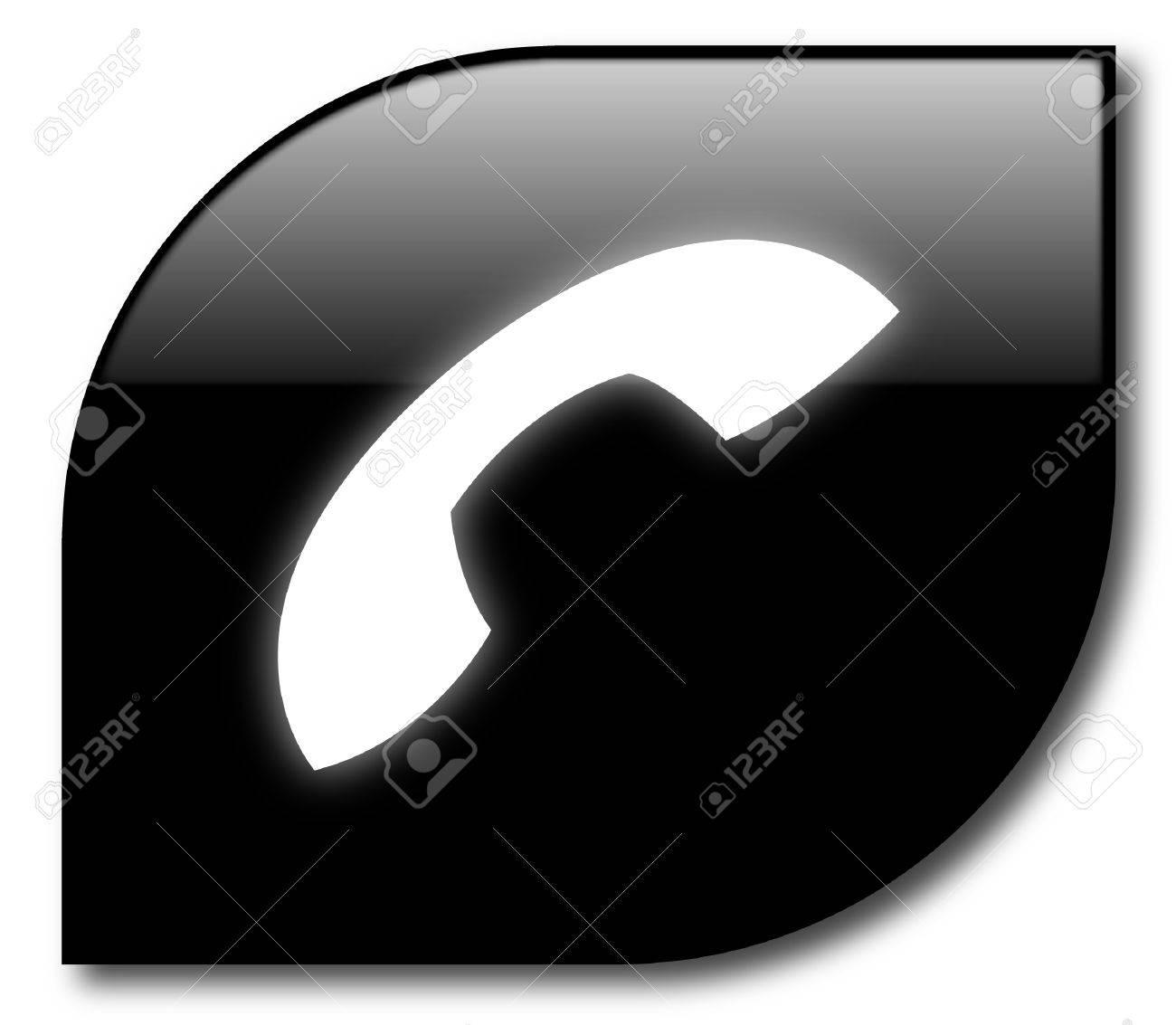 Black telephone sign vector Stock Vector - 8034150