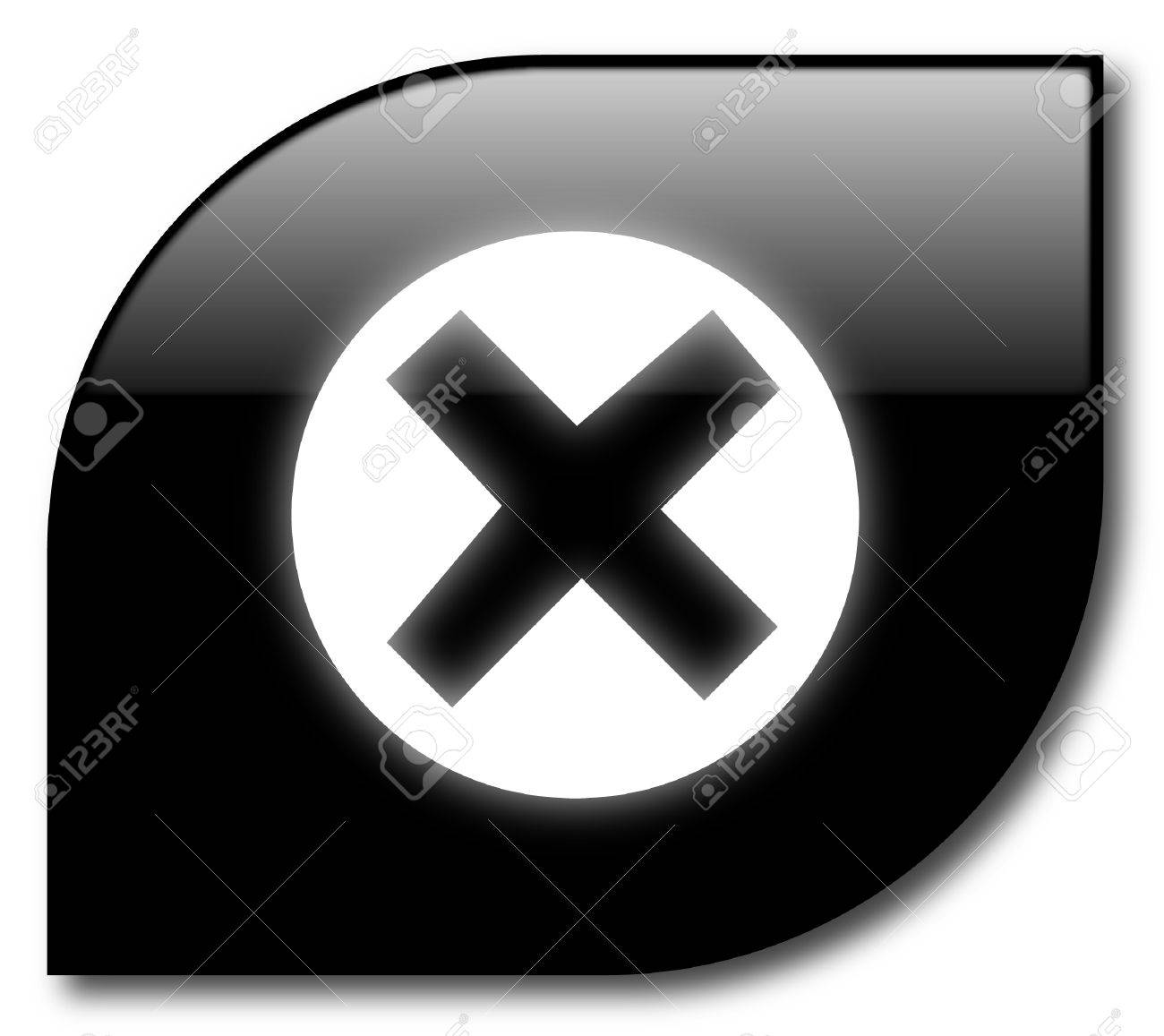 Black  reject button Stock Vector - 8034164