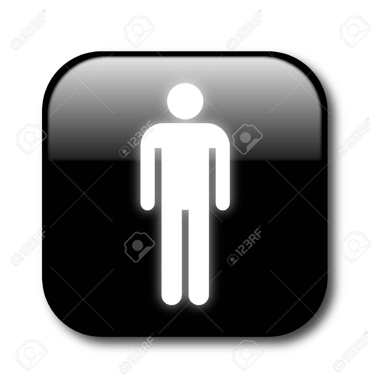 Black male button Stock Vector - 8053327
