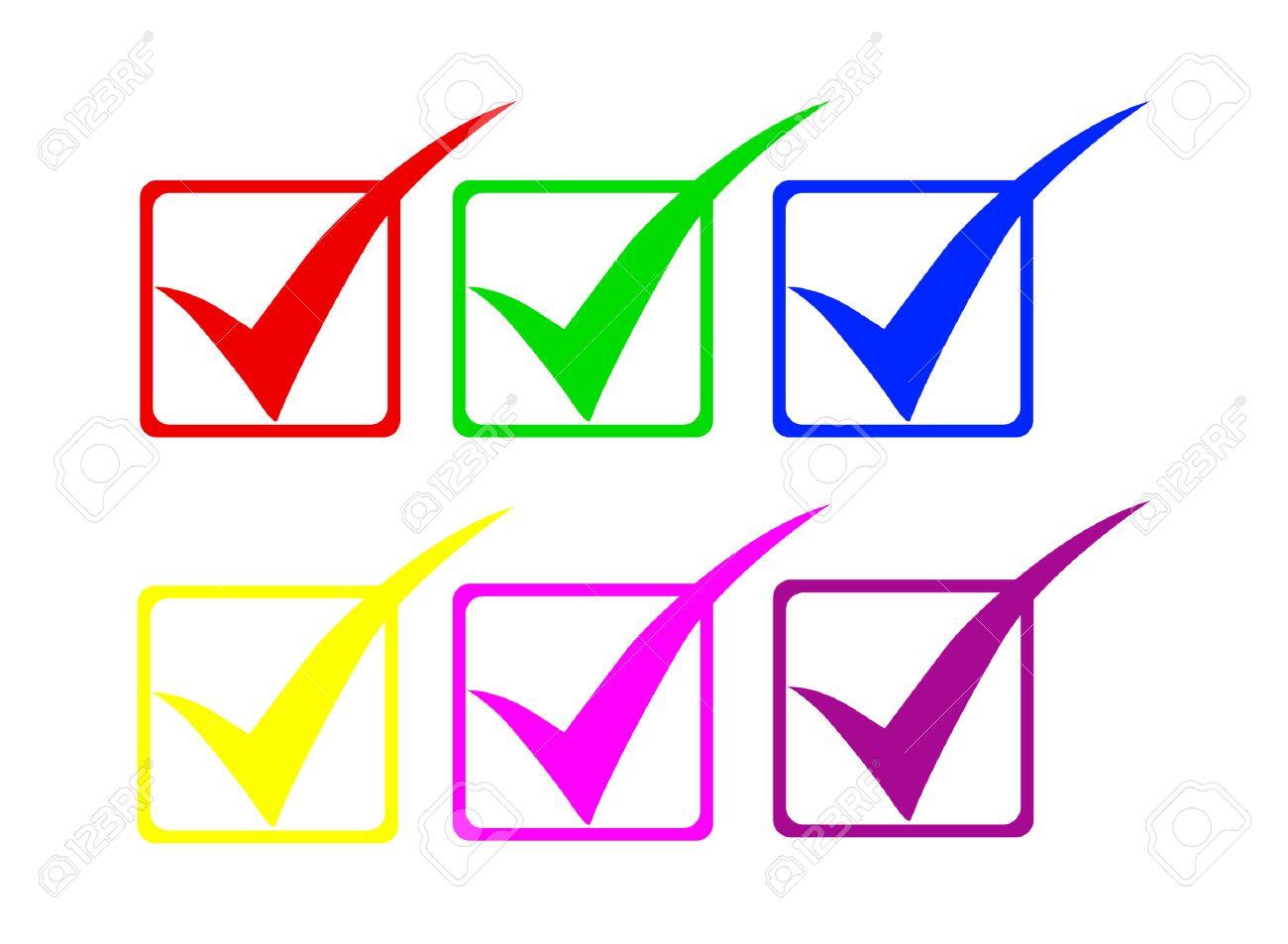 Check symbols Stock Vector - 8141103