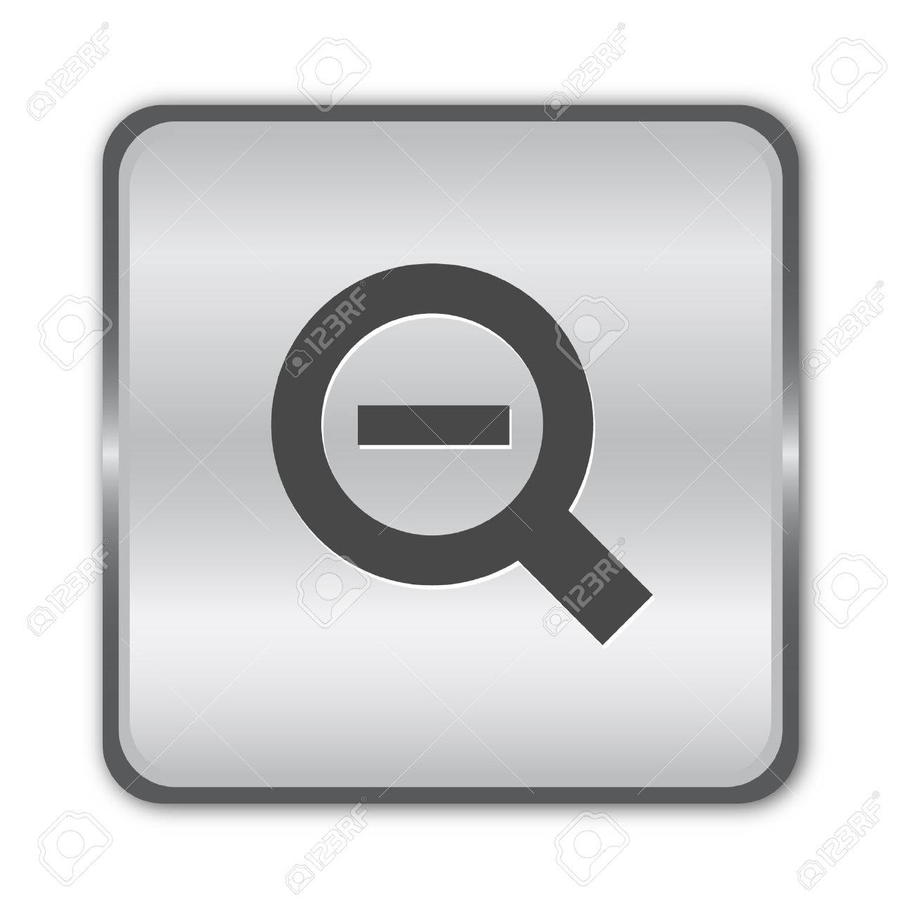 Chrome zoom out  button Stock Vector - 8273054