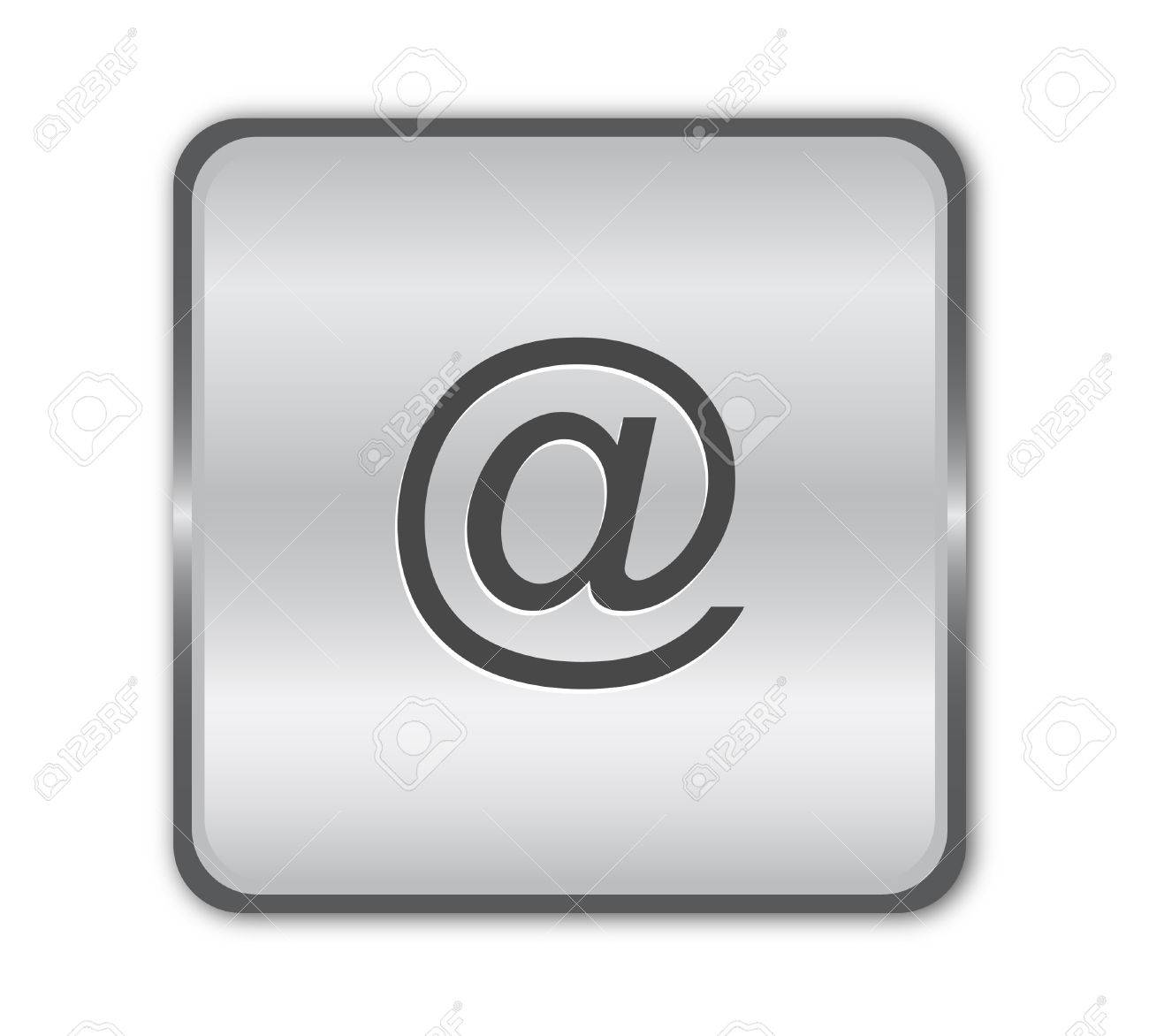 Email chrome button vector Stock Vector - 8273108