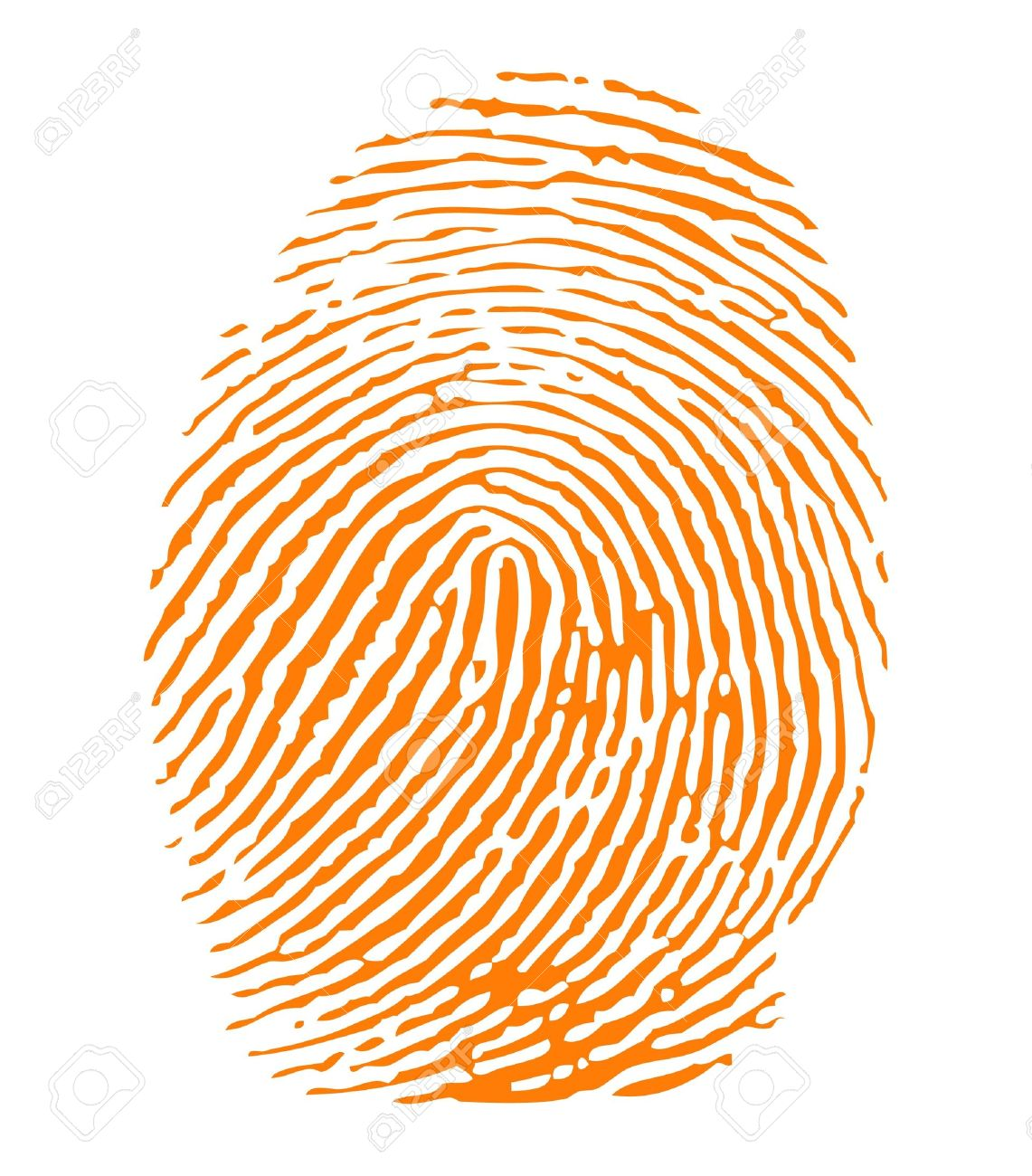 Orange fingerprint Stock Vector - 9280909