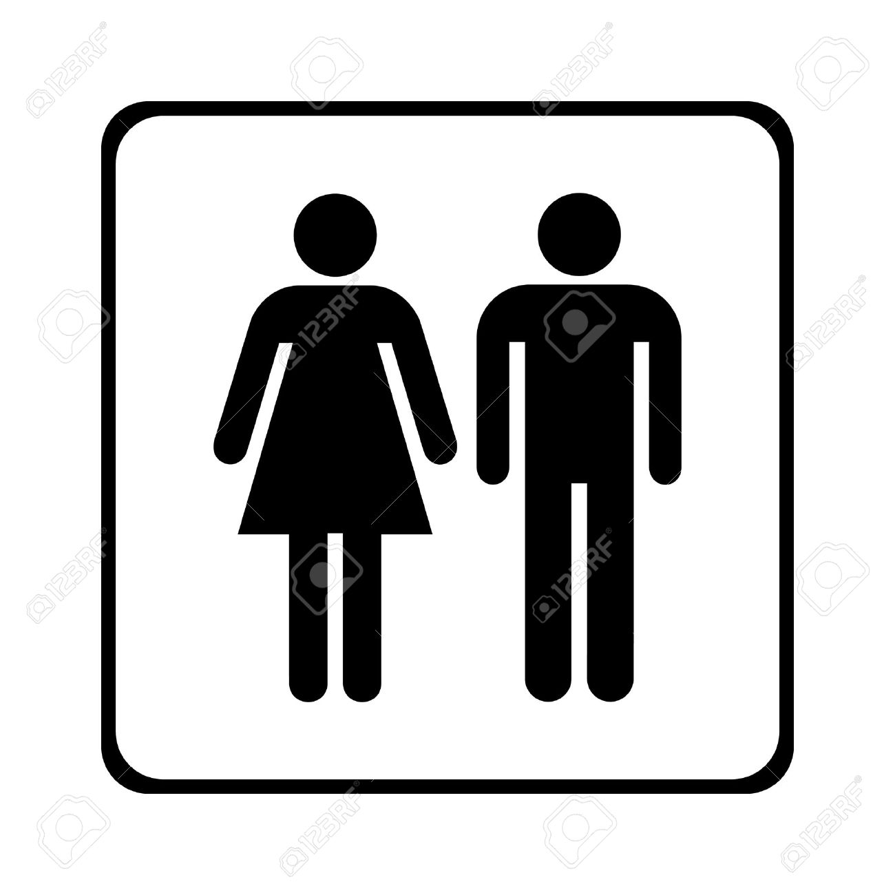 Bathroom Sign Male Vector male and female sign vector royalty free cliparts, vectors, and