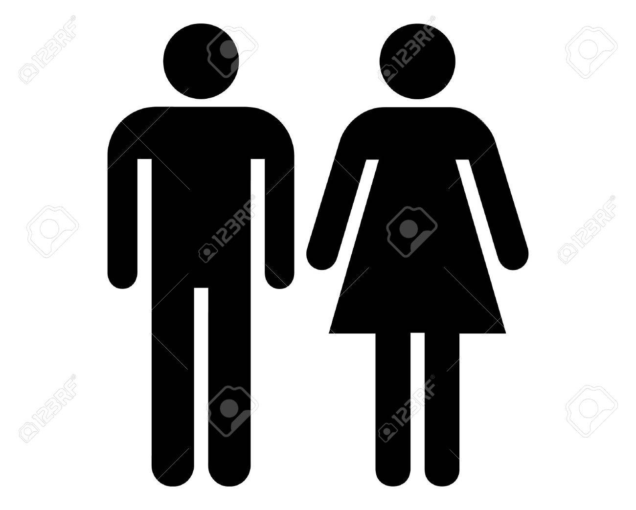 Male and female sign vector - 9356043