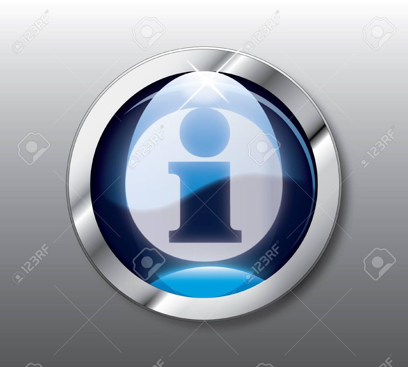 Blue info button Stock Vector - 9368303