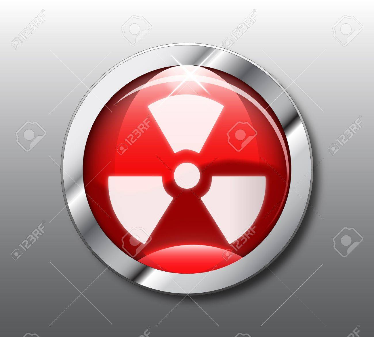 Red nuclear button Stock Vector - 9368297