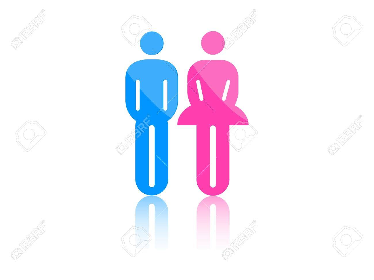 Colored male and female sign vector Stock Vector - 9387389