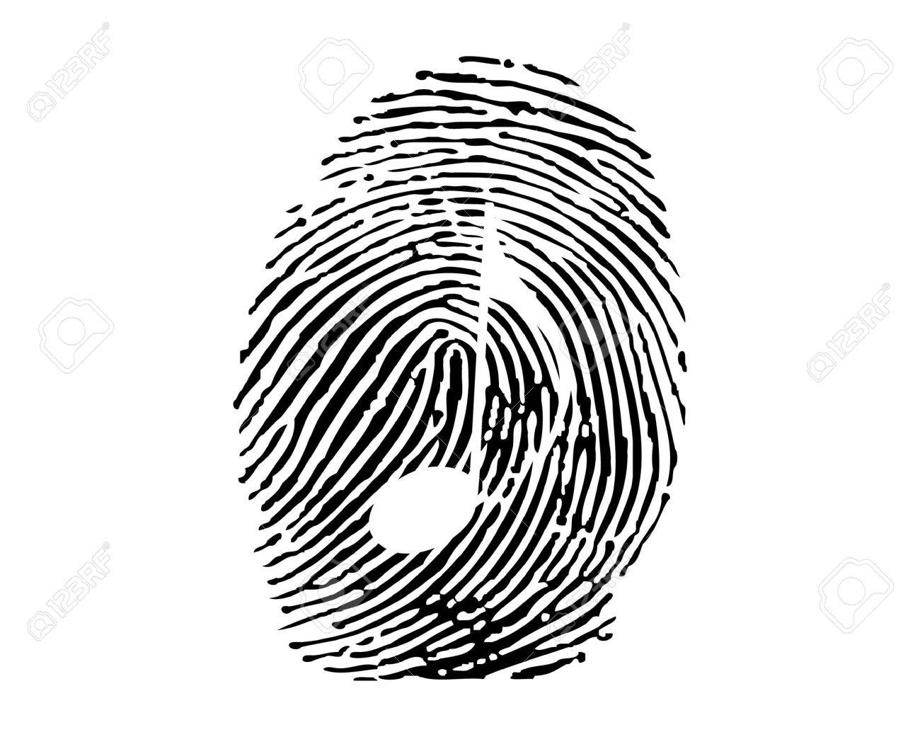 fingerprint with music note royalty free cliparts vectors and rh 123rf com fingerprint vector free fingerprinting victoria texas