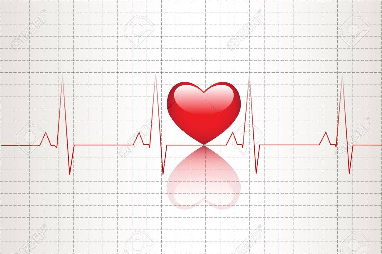 Abbildung Der Elektrischen Aktivität Des Menschlichen Herzens ...