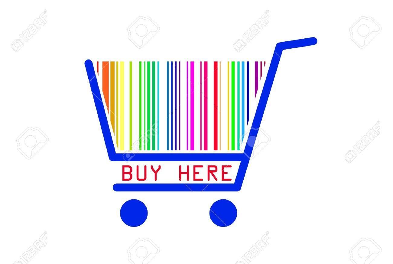 Buy here shopping cart Stock Vector - 9919829