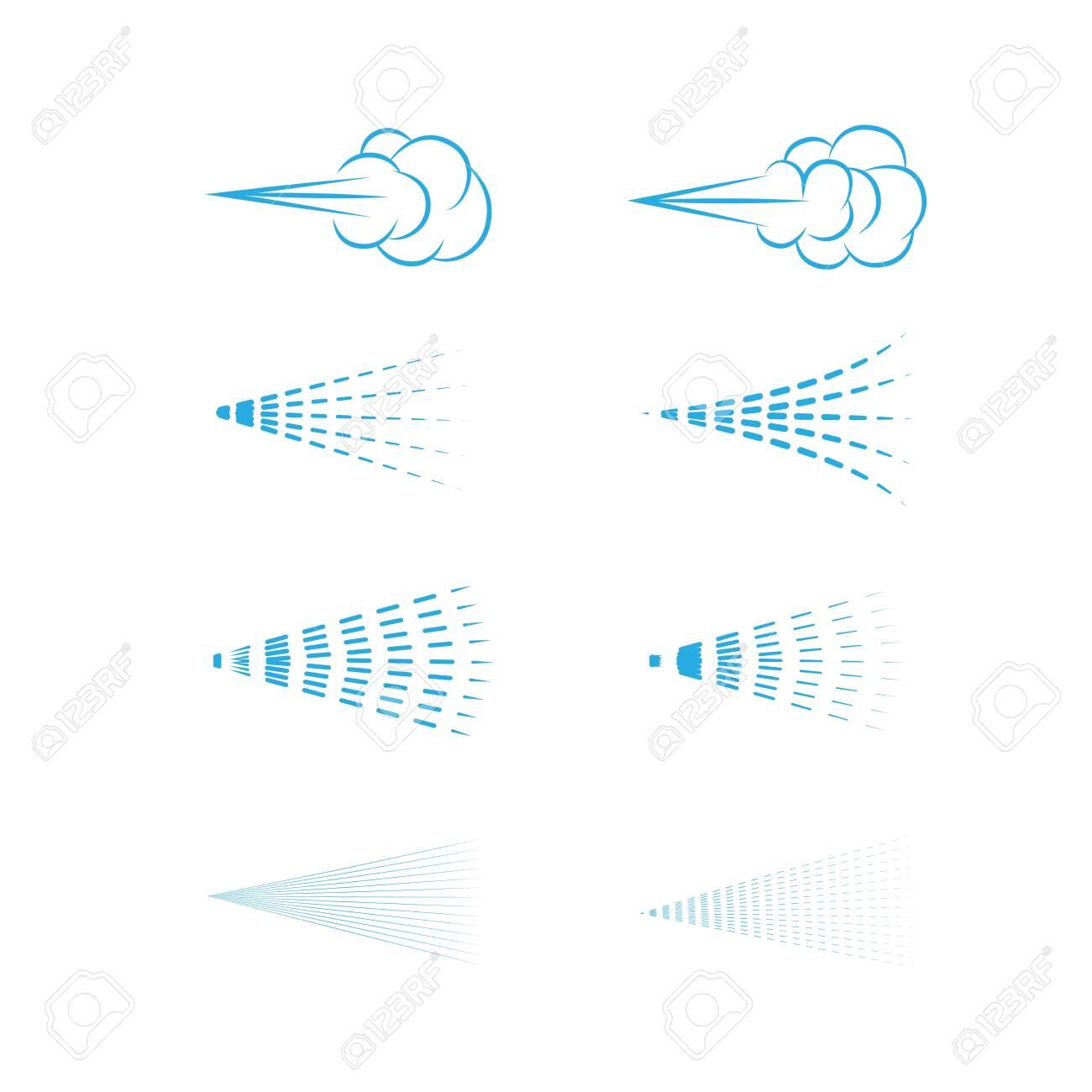 Air Spray vector, aerosol, spray cloud, fluid spray, spray icon set. - 147087879