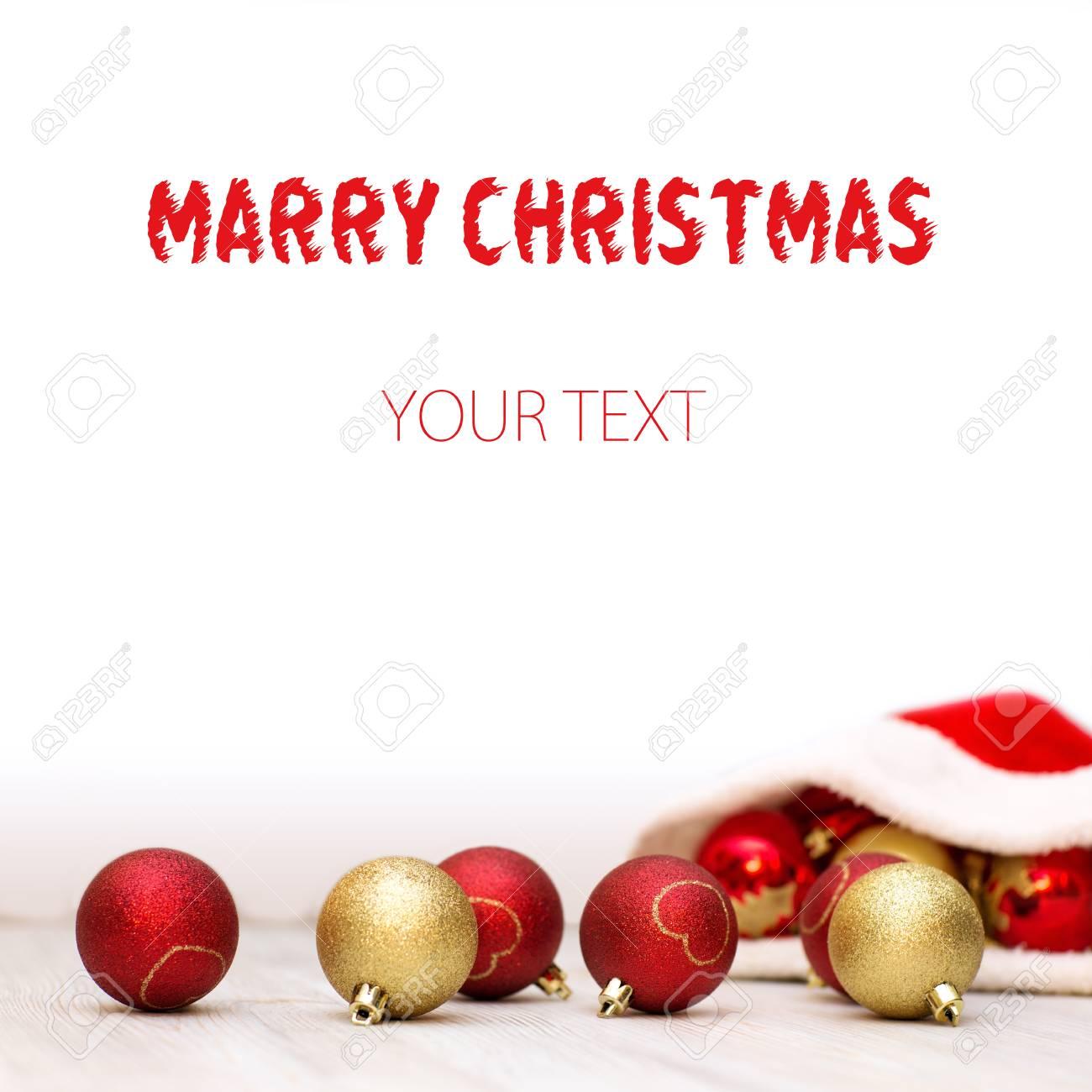 Beautiful Christmas Background Design.Beautiful Christmas Background With Santa Claus Hat And Red
