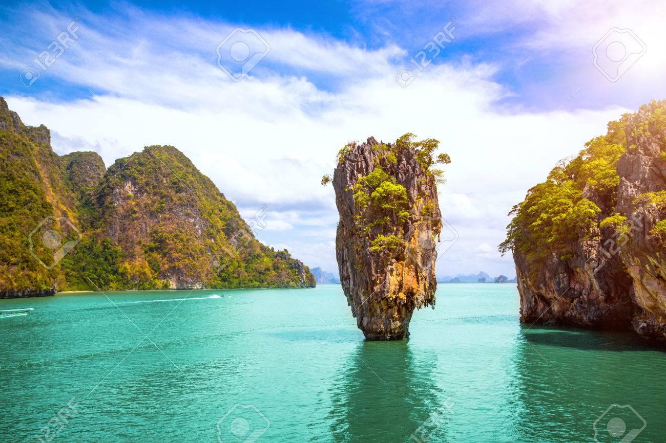 Phuket Thailand Island James Bond Island In Phang Nga Bay Famous