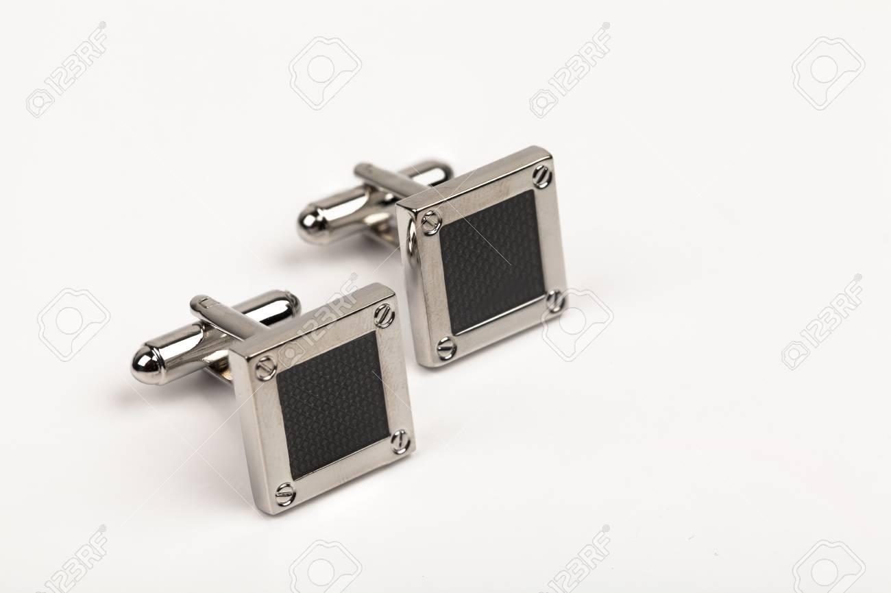 silver cuff links Stock Photo - 15436674