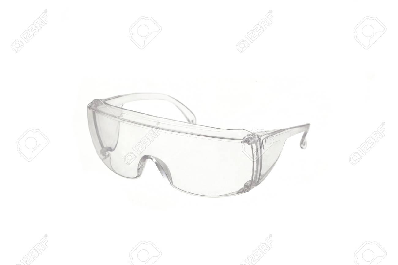 3ccdfdd854cb29 Veiligheidsbril Op Wit Wordt Geïsoleerd Dat Royalty-Vrije Foto ...