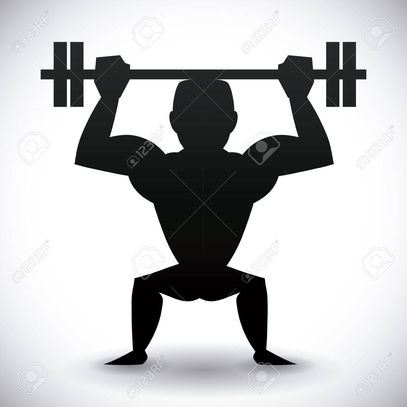 Bodybuilding Graphic Design , Vector Illustration Royalty Free ... for Bodybuilding Graphic Design  45gtk