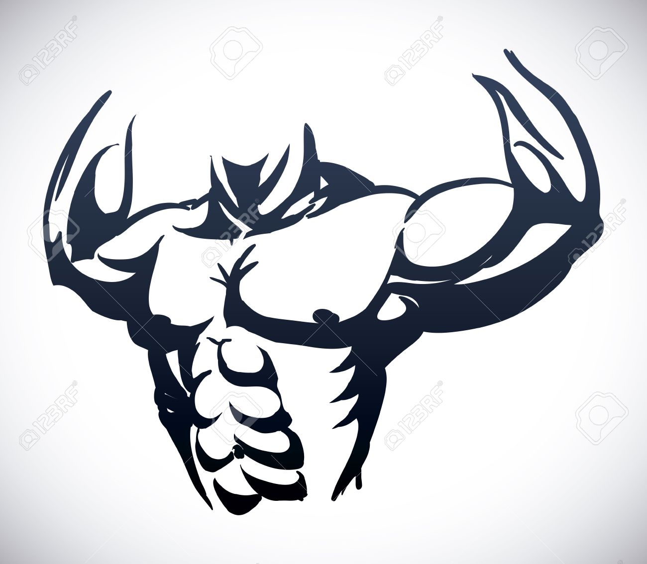 Bodybuilding Graphic Design , Vector Illustration Royalty Free ... for Bodybuilding Graphic Design  83fiz