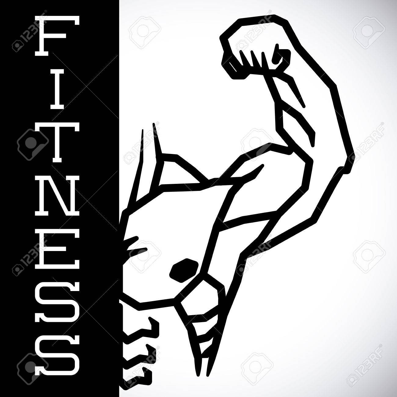 Bodybuilding Graphic Design , Vector Illustration Royalty Free ... for Bodybuilding Graphic Design  242xkb