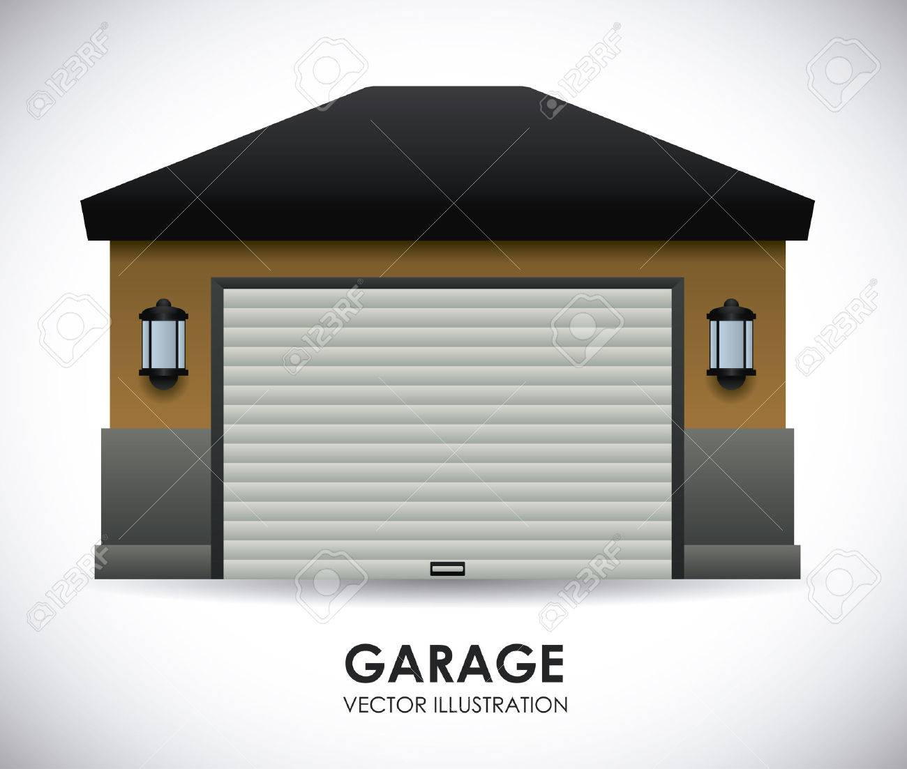 Garage Design , Vector Illustration Stock Vector   34725627