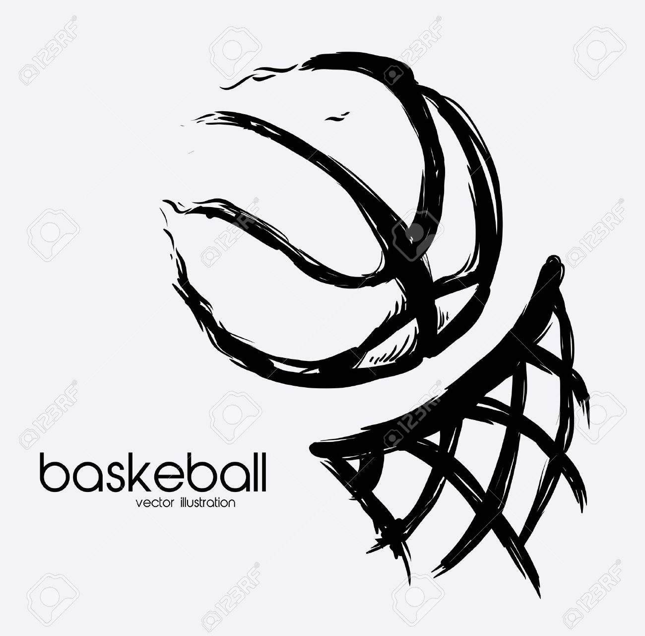 Poster design drawing - Vector Basketball Poster Design Vector Illustration