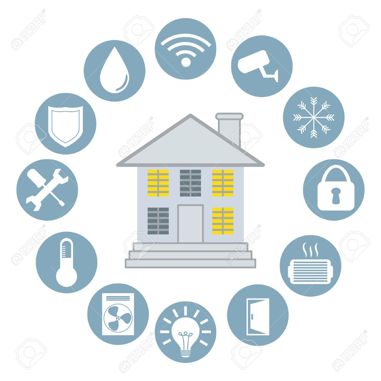Smart Home Design, Vector Illustration Eps10 Graphic Stock Vector   36825879