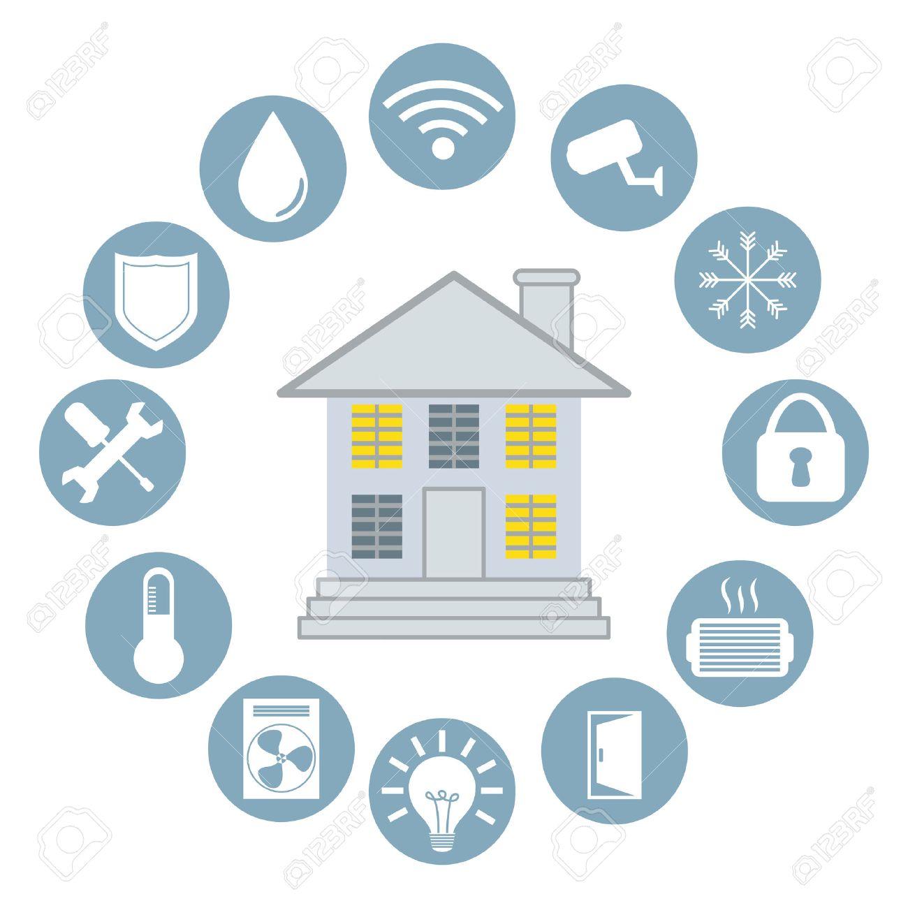 Smart Home Design, Vector Illustration Eps10 Graphic Royalty Free ...