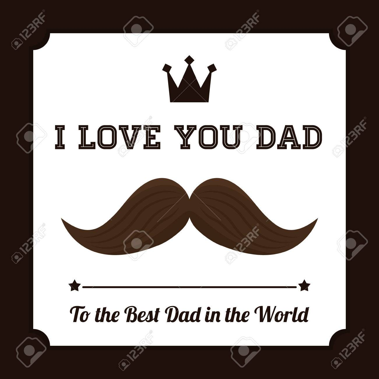 happy fathers day card design vector illustration royalty free