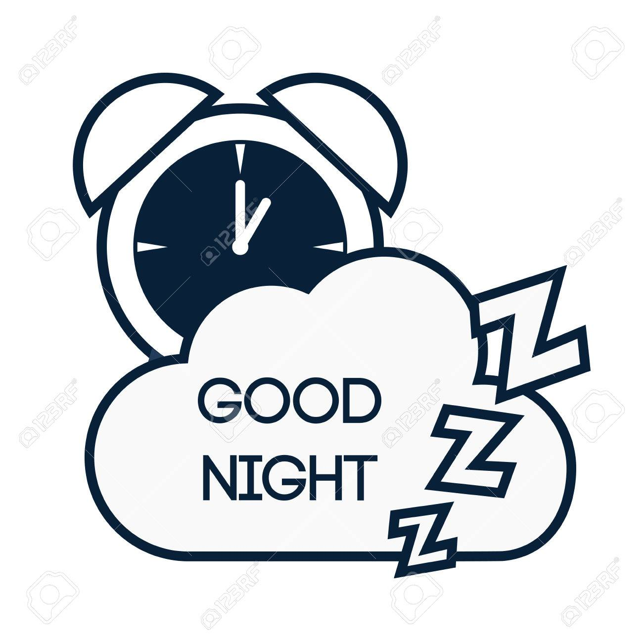 Good Night Digital Design Royalty Free Cliparts Vectors And Stock