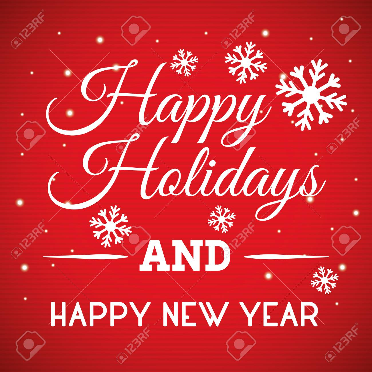 Happy holidays and merry christmas card design, vector illustration. - 47275663