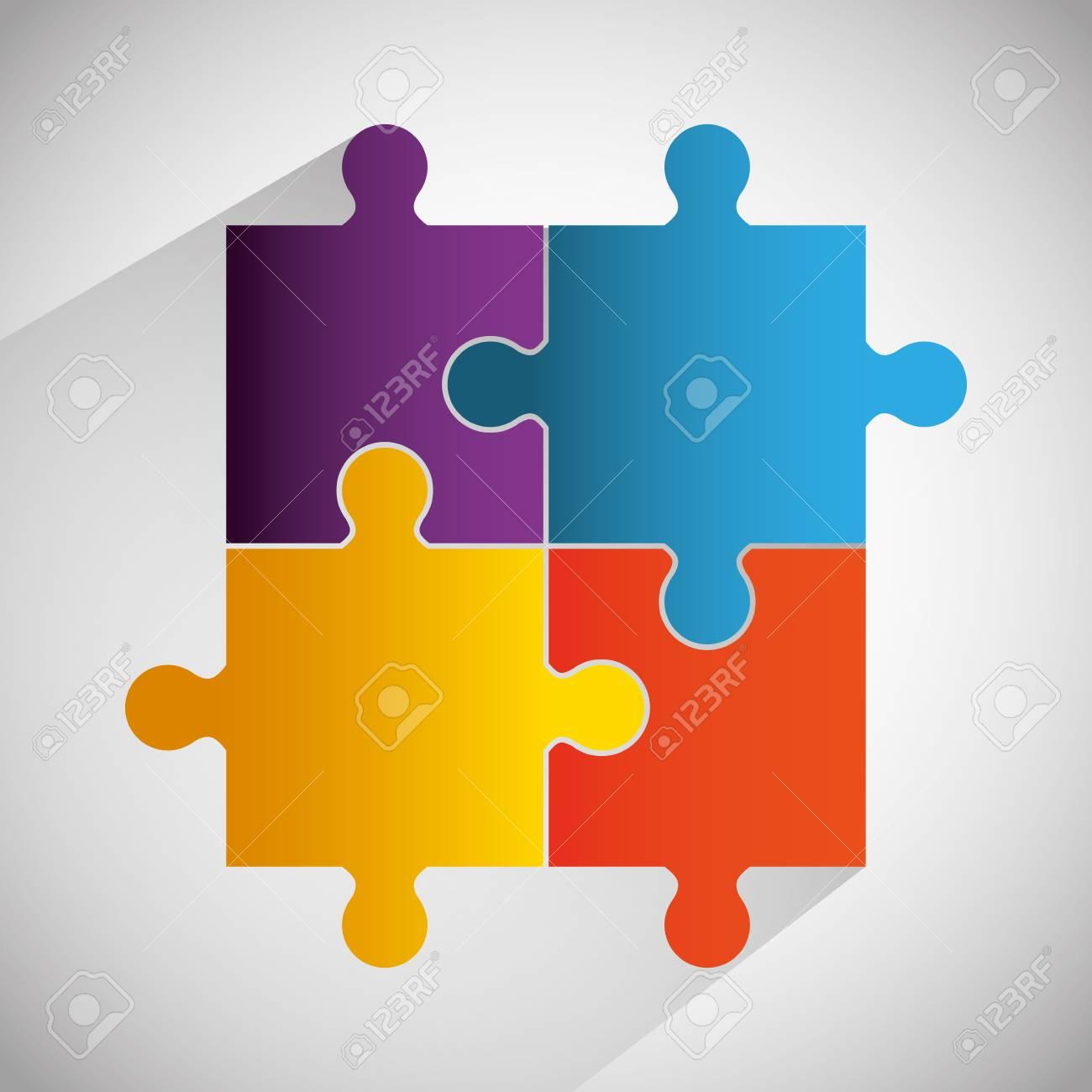 Puzzlespielstücke Und Große Ideen Entwerfen ...