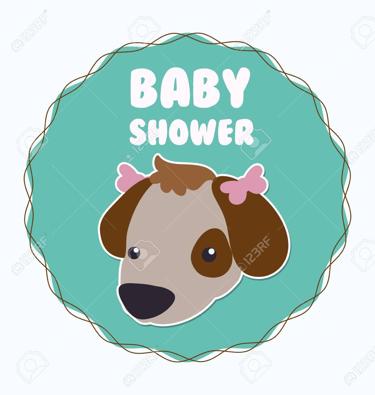 Baby Shower Invitation Card Graphic Design, Vector Illustration ...
