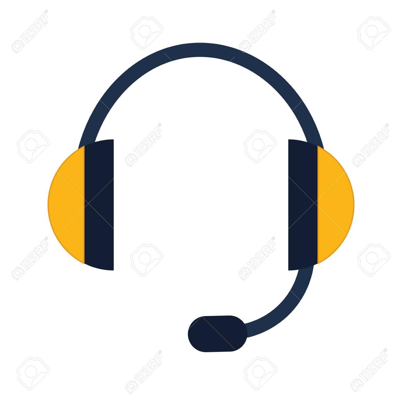 Ton Und Musik-Konzept Mit Kopfhörer-Symbol über Flache Und Isolierte ...