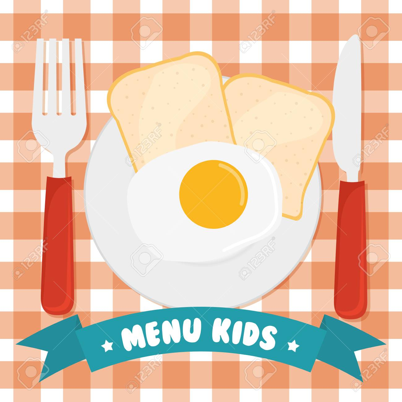 Kids Menu Design Over Red Background Vector Illustration Royalty Free Cliparts Vectors And Stock Illustration Image 58660620