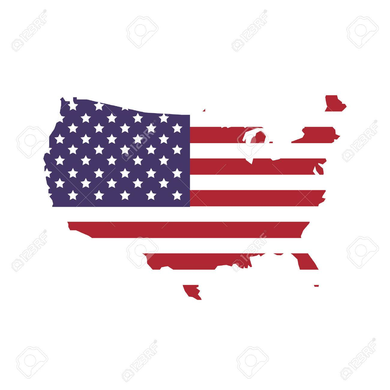 USA concept represented by map and flag icon. isolated and flat illustration - 59406109