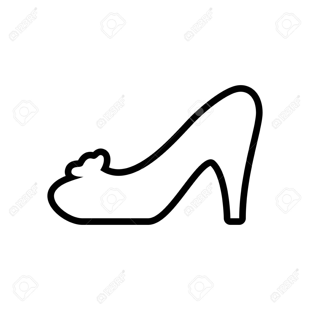 heel shoe fashion cloth icon shopping commerce concept isolated rh 123rf com Vector Graphics Background Vector Graphics Background