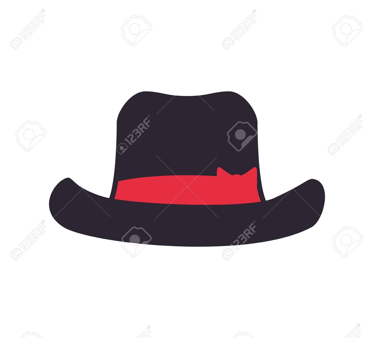 0ebef07f1ab71 Foto de archivo - Sombrero de paño hombre icono caballero. ilustración y  plana. gráfico vectorial