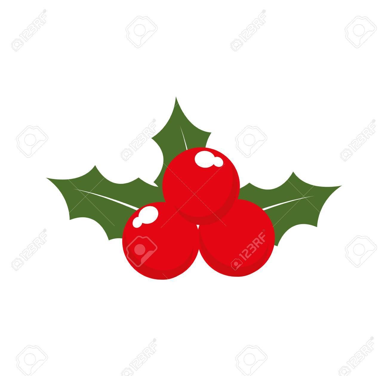 Blatt Blume Weihnachtsfeier Symbol Fröhlich. Isolierte Und Flache ...