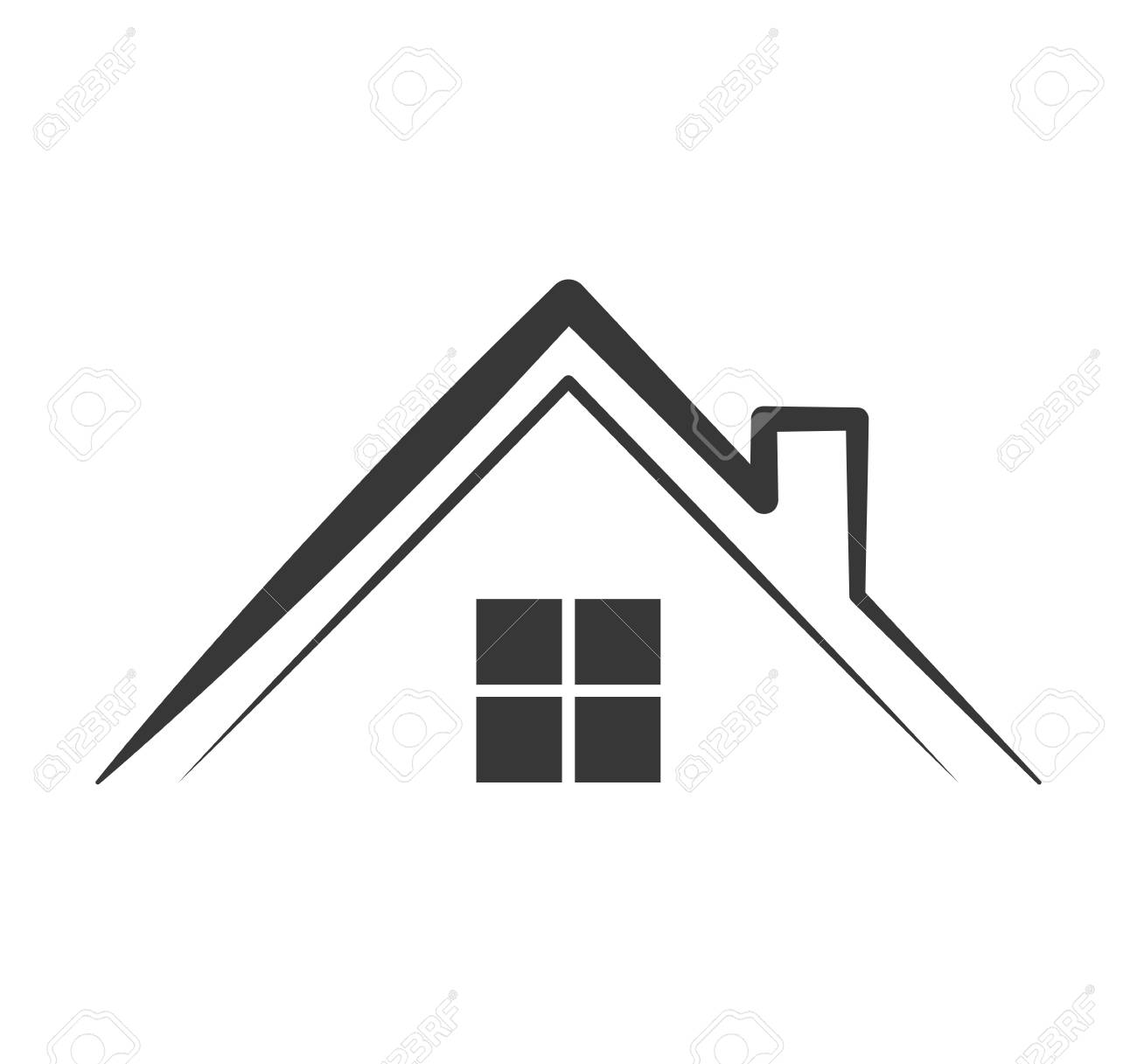 home house silhouette real estate icon isolated and flat