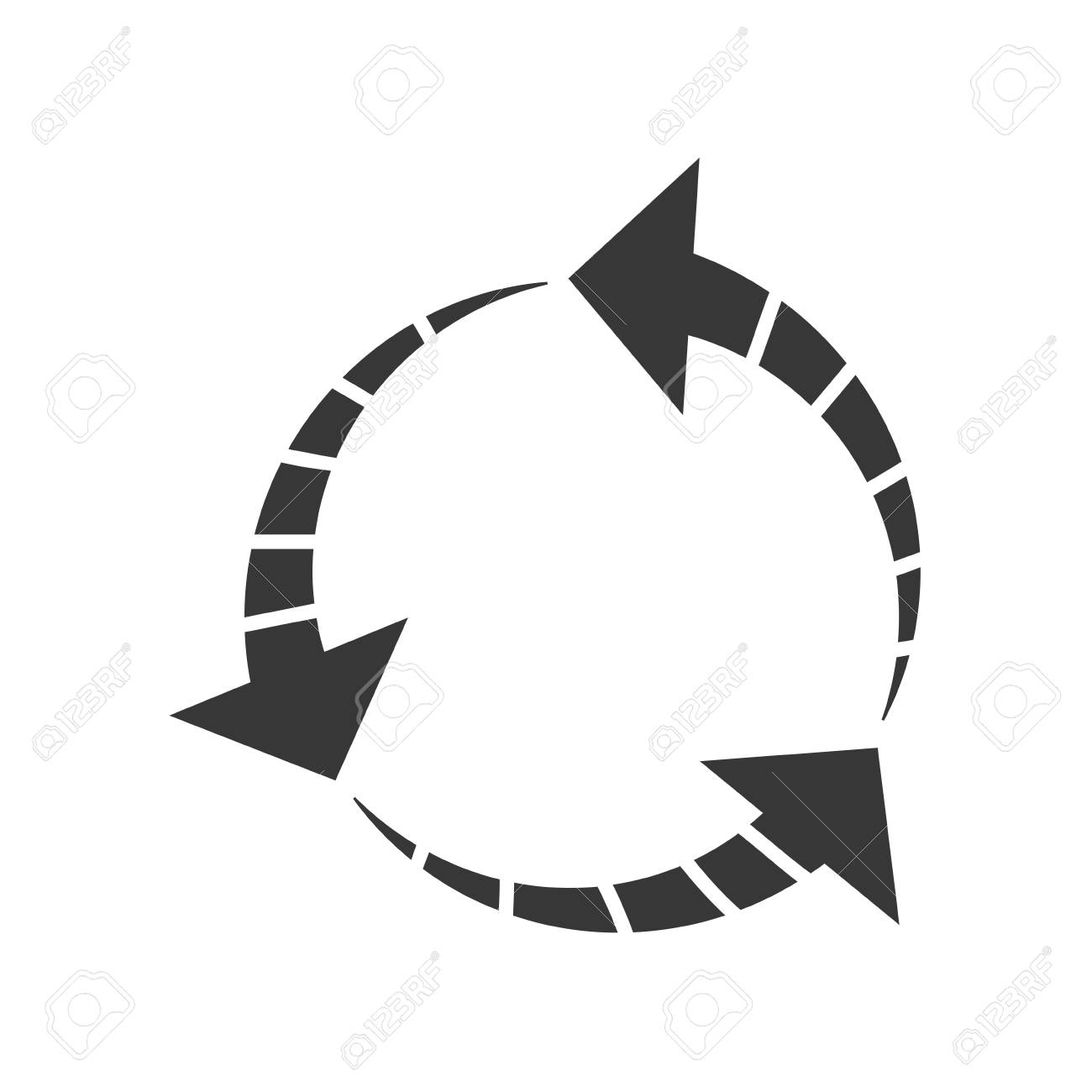 Arrow Circle Direction Infographic Symbol Icon Isolated And