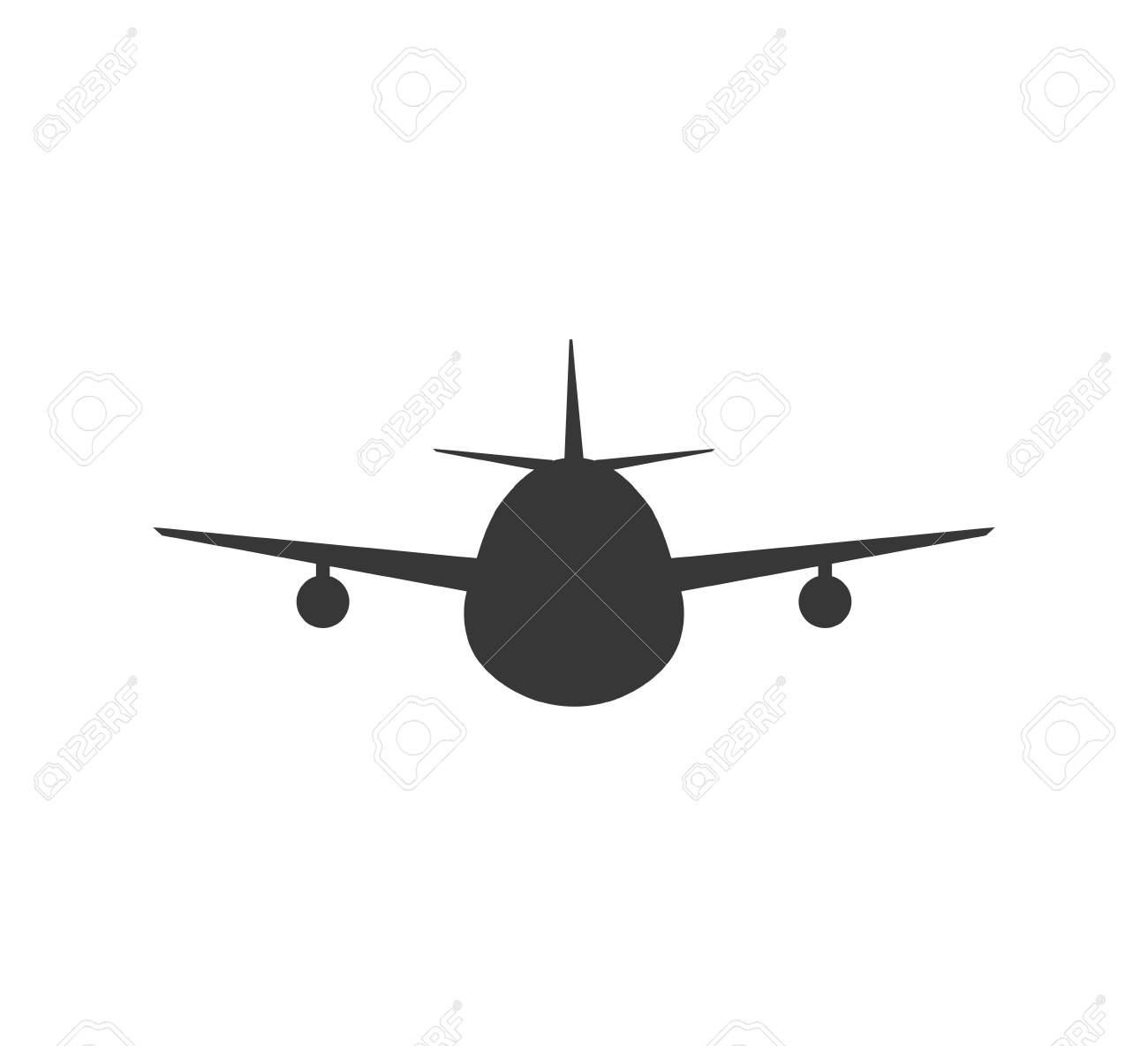 airplane silhouette travel transporation flying icon isolated