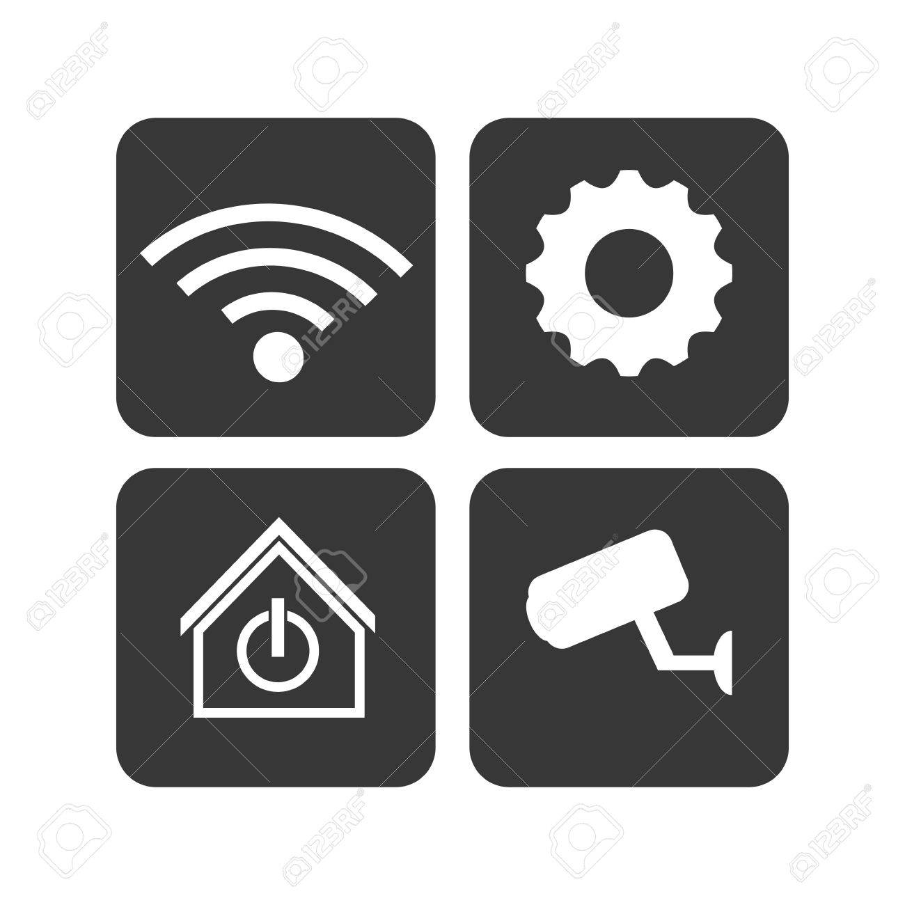 Rahmen CCTV-WiFi Gang Intelligente Haus-Home-Technologie-App-Icon ...