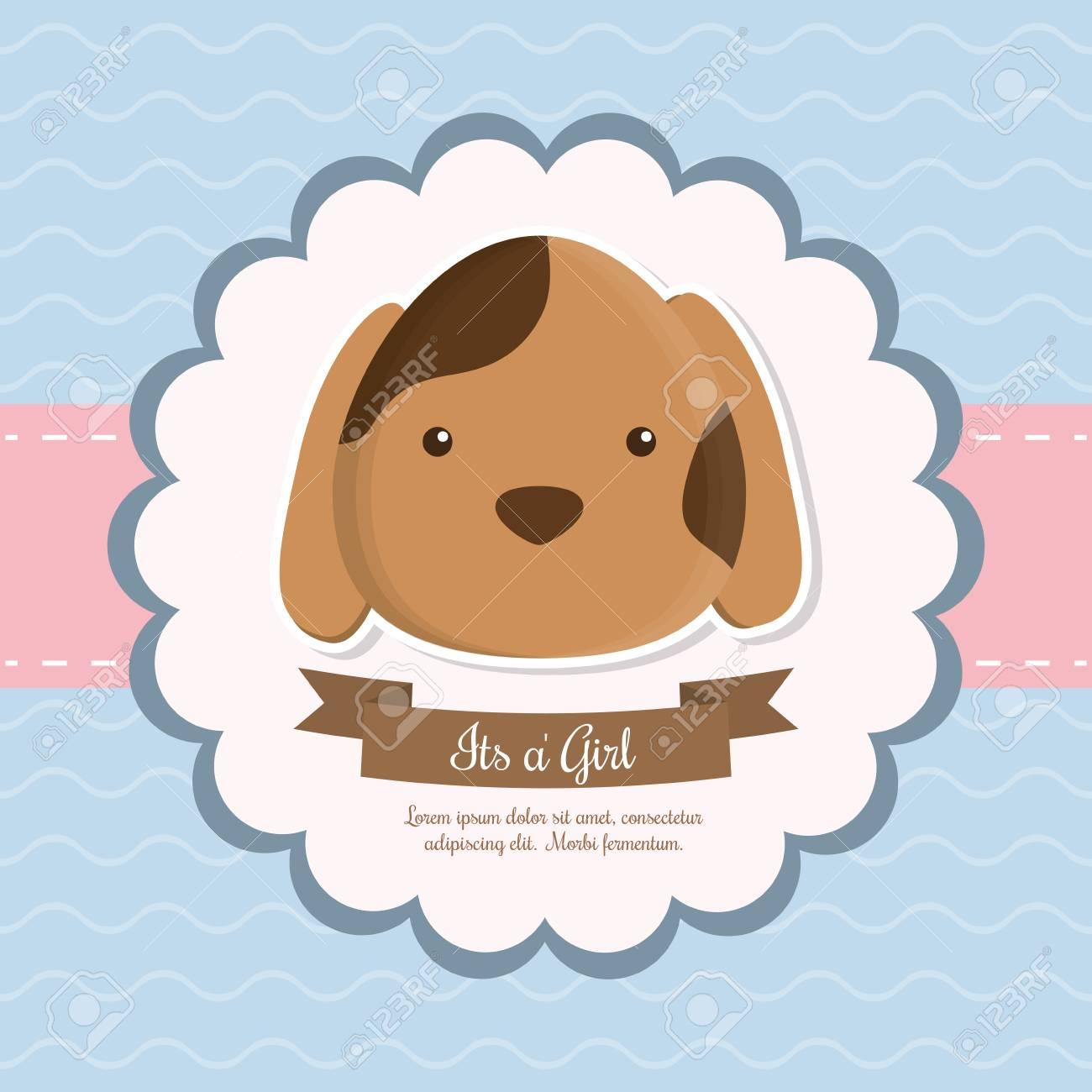 Perro Del Dibujo Animado De Los Animales Icono De Celebración
