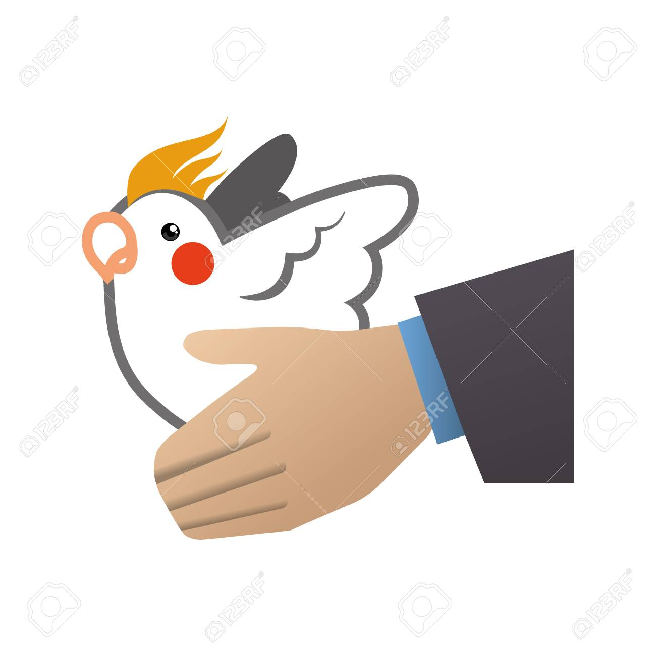 白鳩手鳥平和動物宗教アイコン。...