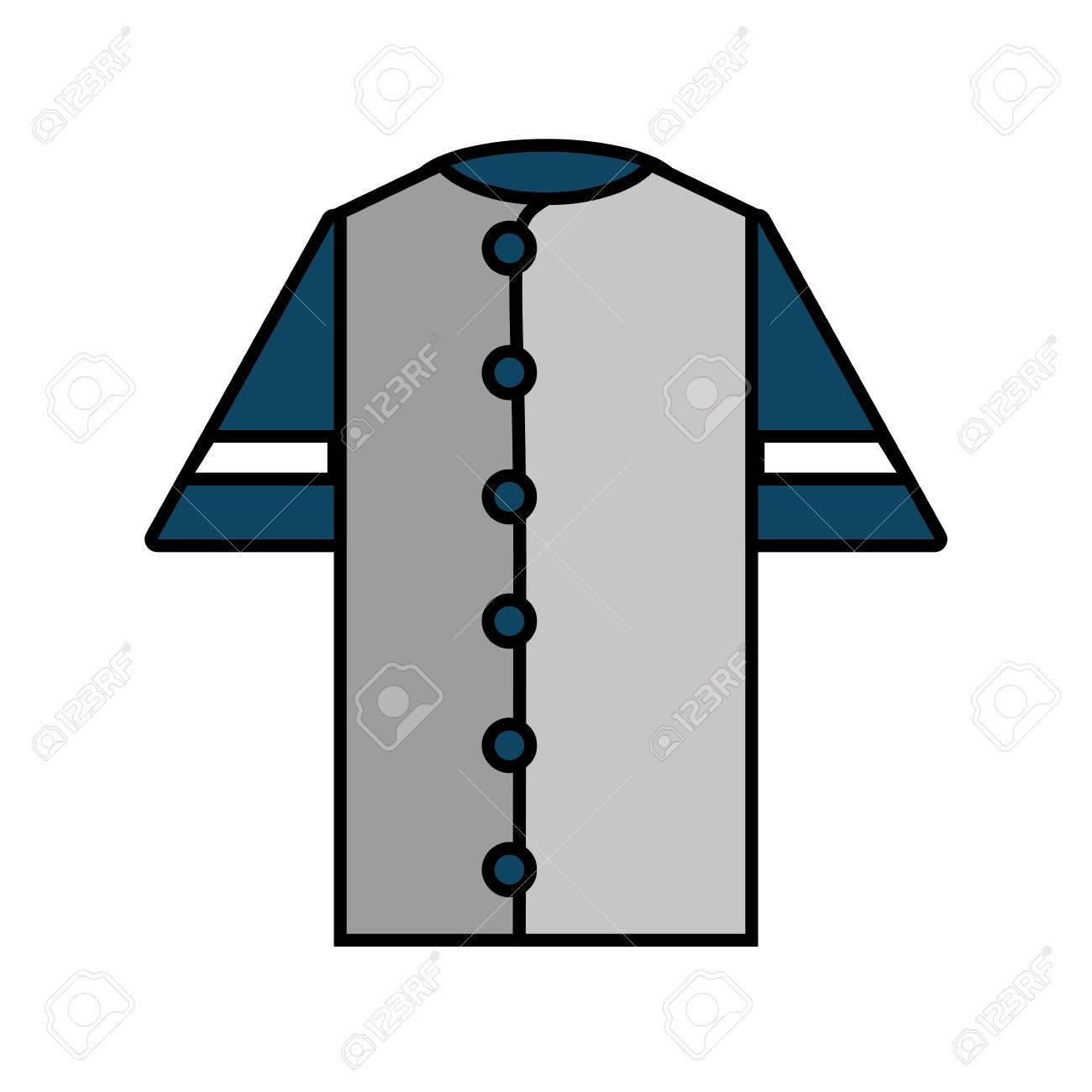 Shirt uniform design vector - Shirt Uniform Baseball Team Icon Vector Illustration Design Stock Vector 64373952