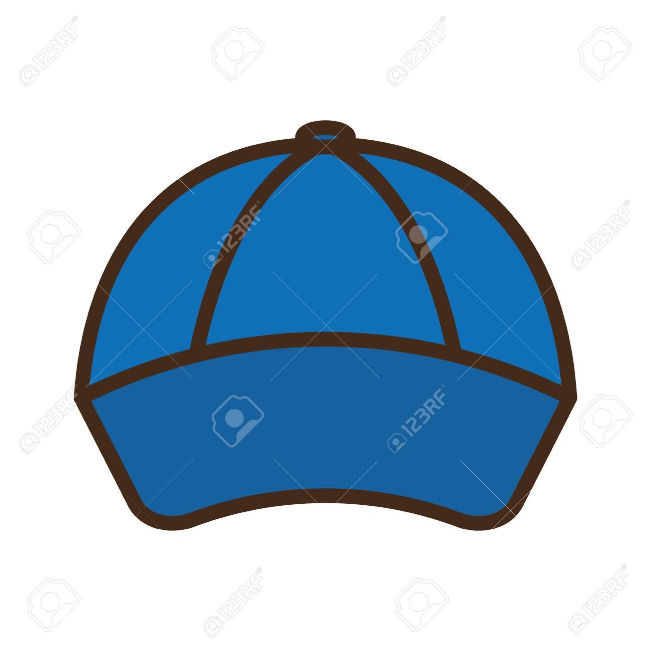 野球帽分離アイコン ベクトル イラスト デザインのイラスト素材ベクタ