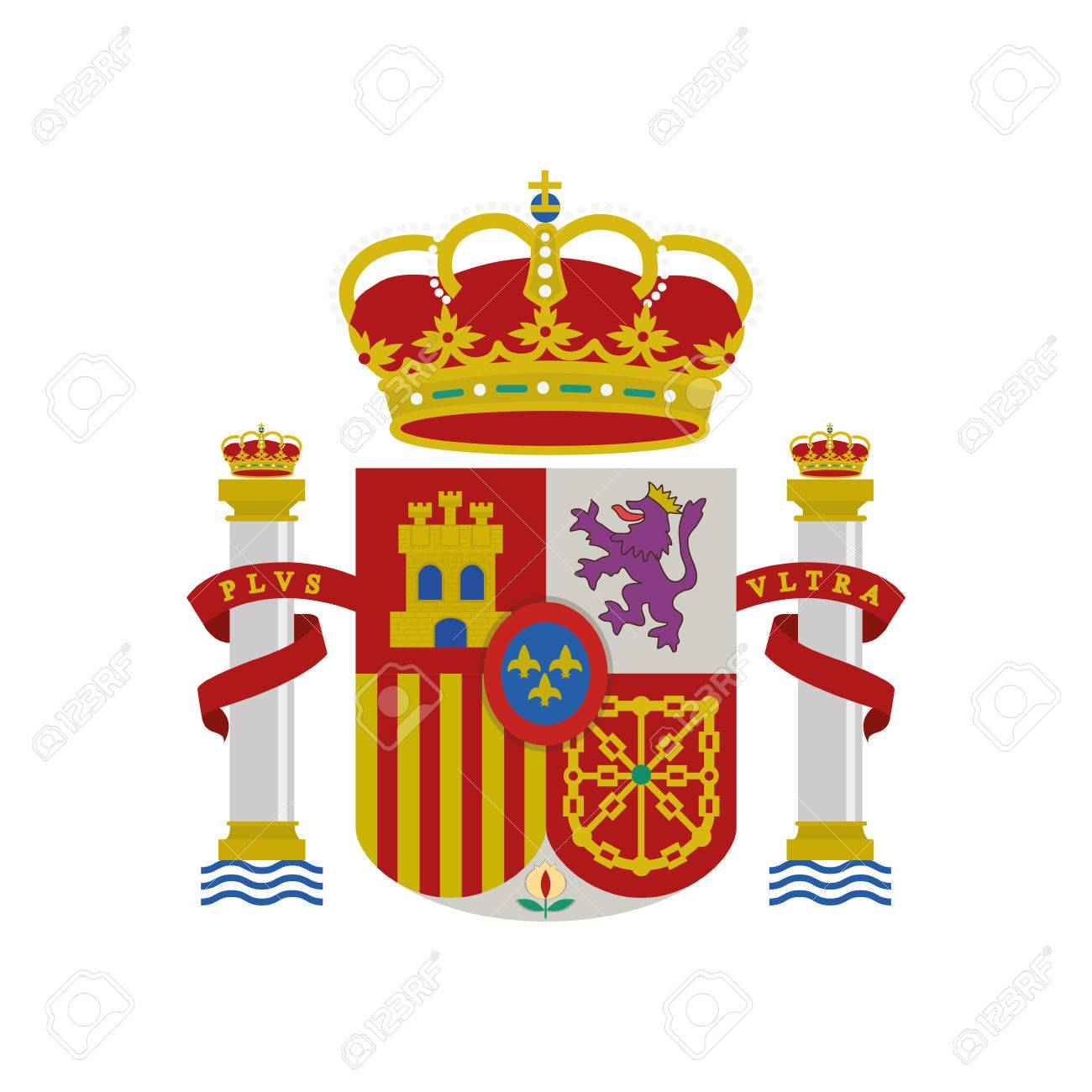 spain shield crown isolated icon vector illustration design - 64806052